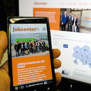 Die neue Website des Jobcenters im Kreis Recklinghausen ist für Smartphones und Tablets optimiert.