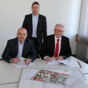 Unterschleißheim: Unterzeichnung des Wärmeliefervertrages.