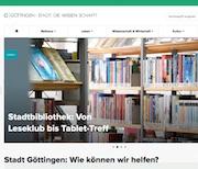 Web-Auftritt der Stadt Göttingen ist jetzt optisch und technisch auf dem neuesten Stand.
