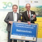 Der Bodenseekreis wurde mit dem European Energy Award in Gold ausgezeichnet.