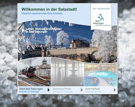 Der Internet-Auftritt der Stadt Bad Salzungen ist um serviceorientierte Module erweitert worden.