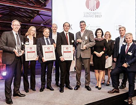 Ritterschlag für die Stadtwerke Emden: Verleihung des Stadtwerke Awards 2017.