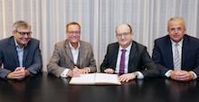 Vertragsunterzeichnung: Mark-E und STAWAG gründen Betriebsgesellschaft für das Pumpspeicherkraftwerk Rönkhausen.