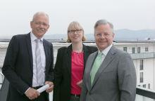 Mainova und Nassauische Heimstätte stellen ihre Kooperation zum Mieterstrom in Frankfurt am Main vor.
