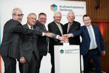 Inbetriebnahme des Batteriespeichers im EnBW-Kraftwerk Heilbronn.