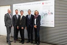 Die KWK-Modelkommune Krefeld stellt ihr neues Mini-Blockheizkraftwerk vor.