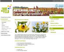 Website informiert über die verschiedenen Pflanzen, die sich zum Einsatz in Biogasanlagen eignen.