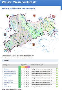 Landeshochwasserzentrum (LHWZ) Sachsen überwacht die Pegel der sächsischen Gewässer mithilfe des Hochwasserinformations- und -managementsystem (HWIMS).