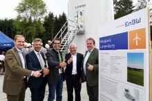 Der EnBW-Windpark Langenburg mit zwölf Anlagen und einer Gesamtleistung von 40 Megawatt wurde jetzt offiziell eingeweiht.
