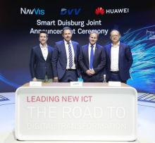 Auf der CEBIT 2018 unterzeichneten Huawei und die DU-IT GmbH eine Rahmenvereinbarung über eine Plattform für Smart-City-Services.