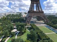 Das Unternehmen Autodesk hat eine detailgetreue 3D-Abbildung des Eiffelturms und seiner Umgebung geschaffen.