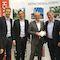 Mönchengladbachs Oberbürgermeister Hans Wilhelm Reiners und die städtischen Projektpartner MGMG und WFMG informieren sich bei The Cloud Networks über das Projekt Wifi MG.
