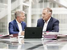 Trianel behauptet sich im Markt: Sven Becker, Sprecher der Trianel-Geschäftsführung, und Geschäftsführer Oliver Runte.