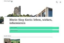 Mit neu gestalteter Website präsentiert sich der Rhein-Sieg-Kreis.