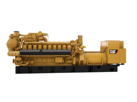 Vier Cat-Gasmotoren der Baureihe G3520H bilden das Herzstück des größten BHKW in Aachen.