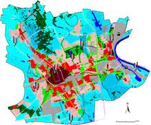 Für die Erstellung von Klimaschutzkonzeptionen orientiert sich der Fachbereich Umwelt an der Klimafunktionskarte für das Stadtgebiet Krefeld.