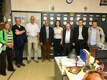 Die Teilnehmer besuchten auch das Saalekraftwerk Jena-Burgau, das bereits seit über 100 Jahren für die Stromerzeugung genutzt wird.