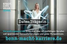 Die Stadtverwaltung Bonn wirbt um neue Mitarbeiter.