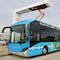 Hybrid-Bus der Göttinger Verkehrsbetriebe wird auf dem Betriebshof geladen.