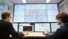 Forschungsprojekt DynaGridCenter: Um das Netz zu beobachten, nutzten die Wissenschaftler eine Labor-Netzleitwarte.