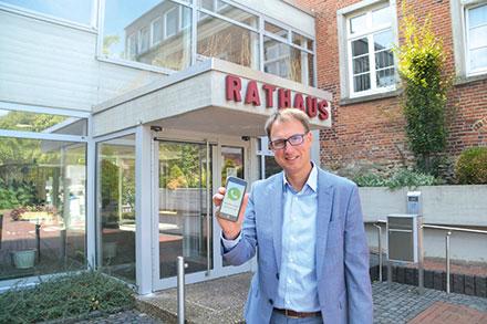 Vredens Bürgermeister Holtwisch: per WhatsApp erreichbar.