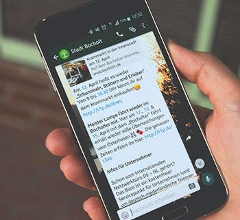 Bocholt: WhatsApp-Newsletter wird geschätzt.