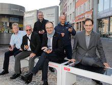 Die neuen Smart Benches auf dem Konstanzer Bodanplatz sind mehr als eine bloße Sitzgelegenheit.