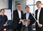 Mit einem symbolischen Knopfdruck wurde am 28. März 2018 in Freiburg die Smart-City-Kommunikationsinfrastruktur in Betrieb genommen.