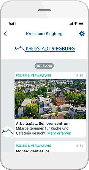 Siegburg: Kommunikation per Messenger.