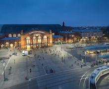 Das neue Lichtkonzept am Hauptbahnhof in Bremen soll Sicherheit schaffen und die Umwelt schonen.