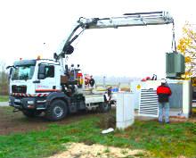 Die Main-Donau Netzgesellschaft hat einen regelbaren Ortsnetztrafo in Morlitzwinden installiert.