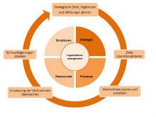 Die vier Module des Organisationsmanagements.