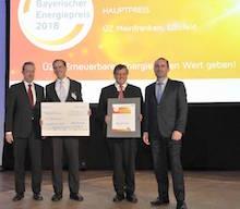 Die Unterfränkische Überlandzentrale hat den Bayerischen Energiepreis 2018 gewonnen.
