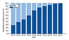 Batterietechnologien KfW-geförderter PV-Speicher aufgeteilt in Lithium und Blei.