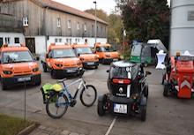 Die E-Flotte des Augsburger Amts für Grünordnung kann sich sehen lassen.