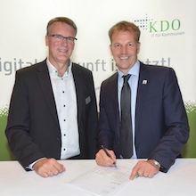 Die Gemeinde Beverstedt besiegelt ihre Zusammenarbeit mit der Kommunalen Datenverarbeitung Oldenburg (KDO).