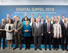 Digital-Gipfel: Politprominenz in Nürnberg versammelt.