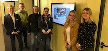 Redaktionsteam präsentiert neue Website der Gemeinde Langenberg.