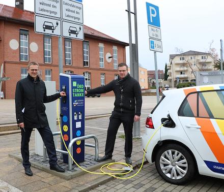 In Jena wurden in diesem Jahr 50 neue Ladepunkte installiert.