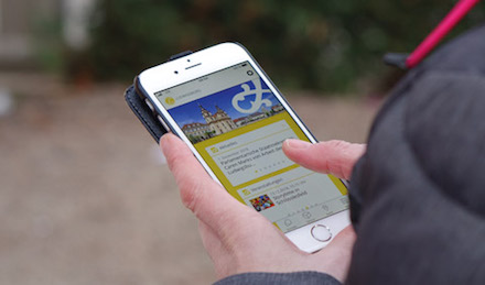 Die Ludwigsburger Bürger-App informiert auch unterwegs.
