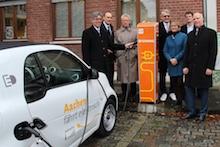 Fast 500 Ladesäulen für Elektrofahrzeuge sollen in den kommenden Jahren in Aachen installiert werden.