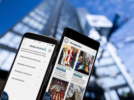 Informationen und Online-Services bündelt die CityApp der Stadt Essen.