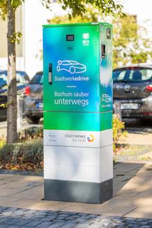 Die Stadtwerke Bochum haben insgesamt rund 200 Ladepunkte im Stadtgebiet installiert.
