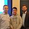 Schüler Paul Obernolte stellte seine App Desti Wolfsburgs Oberbürgermeister Klaus Mohrs  (l.) und Digitalisierungsdezernent Dennis Weilmann vor.