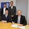 Die Verantwortlichen von REWAG und Voltgrün haben Mitte Januar den Kaufvertrag für den Windpark Feistelberg unterschrieben.