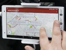 App zur Bestellung des flexiblen Bedarfsbusses.