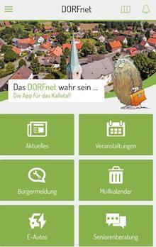 Dorfnet-App für das Kalletal ist online.