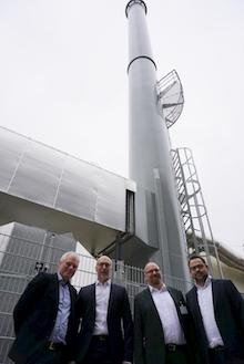 Innovatives Wärmeprojekt in Tübingen: Heizzentrale auf dem Firmengelände der Rösch-Gruppe.