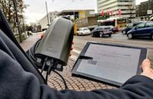 Intelligente Straßenlaternen sollen den Verkehrsfluss in Darmstadt optimieren.