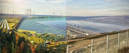 Greenpeace Energy will auf ehemaligen Tagebauflächen zusätzliche Wind- und Photovoltaikanlagen errichten.